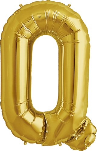 Letter Q - Gold Helium Foil Balloon - 34 inch