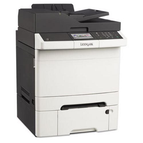 Lexmark CX410DTE Laser Multifunction Printer - Color - Plain Paper Print - Desktop - Copier/Fax/Printer/Scanner - 32 ppm Mono/32 ppm Color Print - 2400 x 600 dpi Print - 32 cpm Mono/32 cpm Color Copy - Touchscreen - 1200 dpi Optical Scan - Automatic Duplex Print - 900 sheets Input - Gigabit Ethernet - USB - 28D0600 (Lexmark 900 Ink compare prices)