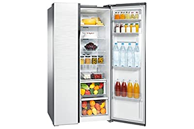 Samsung RS554NRUA1J Side-by-Side Refrigerator (591 Ltrs, Shinny River Pattern)