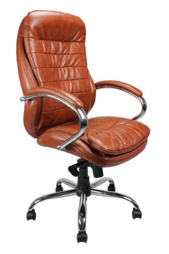 Eliza Tinsley 618KTAG/LTN High Back Leather Faced Executive Armchair with Chrome Base
