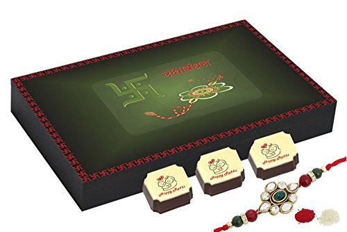 Best Chocolate Box With Rakhi - Best Gift For Sister - 12 Chocolate Box With Rakhi