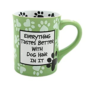 Enesco 4026113 Our Name Is Mud by Lorrie Veasey Dog Hair Mug, 4-1/2-Inch from Enesco Gift