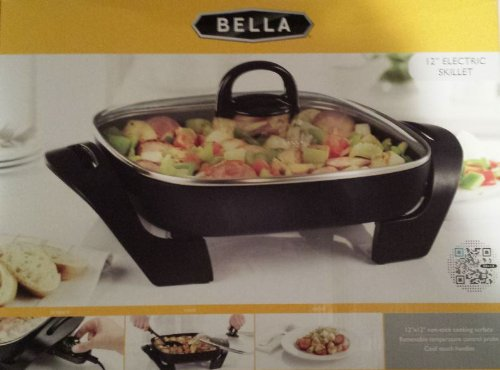 Bella 12″ Electric Skillet with Cool Touch Handles