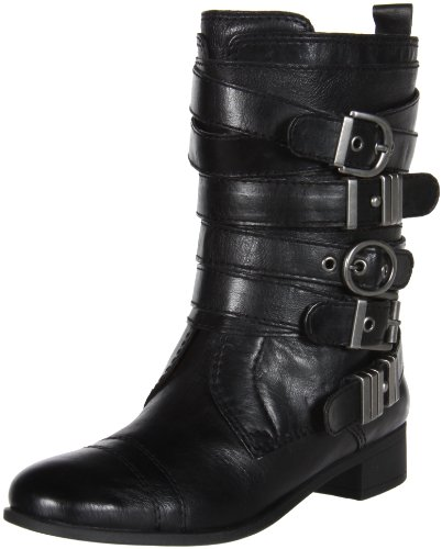 Nine West Women's Saidee Boot,Black/Black Leather,8 M US