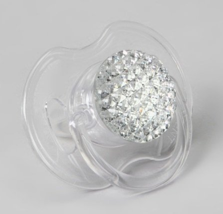 Clear Quilted Pacifier Newborn (PQC-S-NB) - 1