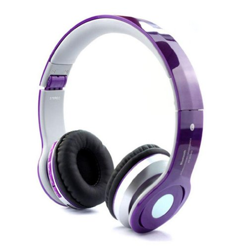 Blue Melody Colorful Universal Bluetooth Stereo Mini Folding Foldable Sports Best Rated Fashion Slick Design Headset For Apple Iphone 4 4S 5 5S 5C Nokia Htc Samsung Lg Motorola Pc Erricsson Ipad Sony Psp Xbox 360 Bt-Bt802 Purple