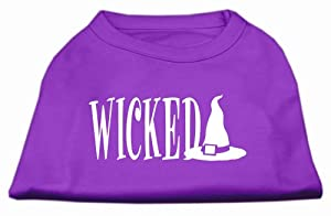 Mirage Pet Products 8-Inch Wicked Screen Print Shirt for Pets, X-Small, Purple