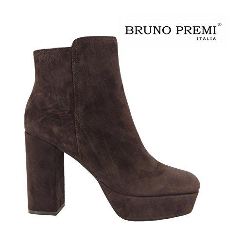 Bruno Premi stivali donna stivaletti tronchetti scamosciati made in Italy I4906P (39, MARRONE)