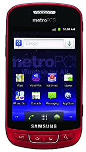 Samsung Admire Prepaid Android Phone, Red (MetroPCS)