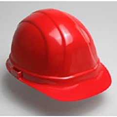 ERB 19954 Omega II Cap Style Hard Hat with Mega Ratchet Red