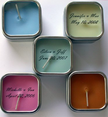 Soy Candle Wedding Favor - Moroccan Mint (rosemary mint) - 25 tins