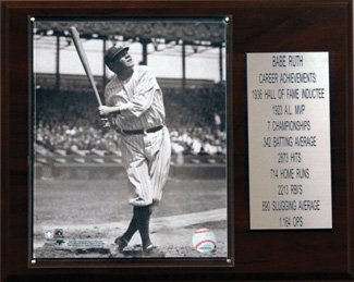 "New York Yankees Babe Ruth 12""x15"" Career Stats Plaque at Amazon.com"