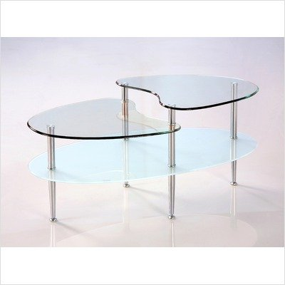 Walker Edison C38B5 - 38 in. Mariner Oval Coffee Table
