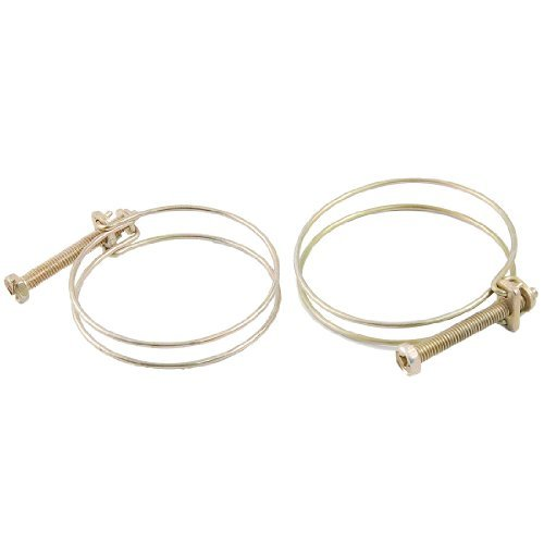 Water & Wood 56-64Mm Adjustable Range Steel Wire Water Oil Gas Hose Clamps 2 Pcs front-614517