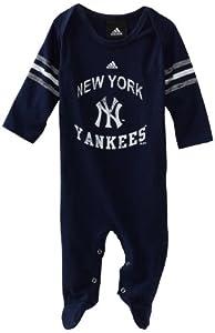 MLB Newborn New York Yankees Long Sleeve Coverall (Dark Navy, 0-3mos)