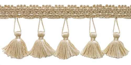 Fantastic Deal! 2.5 Inch Tassel Fringe Trim, Style# ETF Color: NATURAL - A2, Sold By the Yard