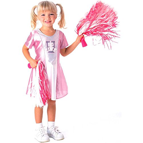 Toddler Pink & White Cheerleader Costume