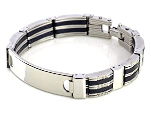 Mens Stainless Steel Bracelet Chain Link Wrist Band Wristband Fashion Jewellery