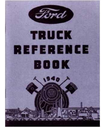 1940 FORD TRUCK V-8 V8 Car Owners Manual User Guide