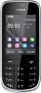 Nokia Asha 203 Handy Touch and Type (6 cm (2,4 Zoll) Display, 2 Megapixel Kamera, 32GB microSD) silber/weiß