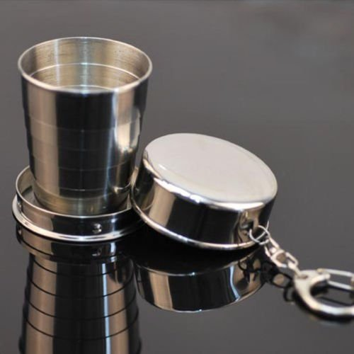 Hot 150ML Stainless Steel Travel Portable Cup Telescopic Collapsible Folding Cup (Snow Peak Tumbler compare prices)