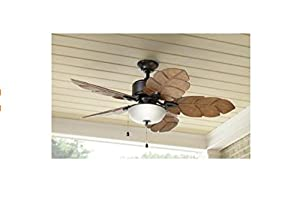 Home Decorators Palm Cove 52 In Indoor Outdoor Natural Iron Ceiling Fan