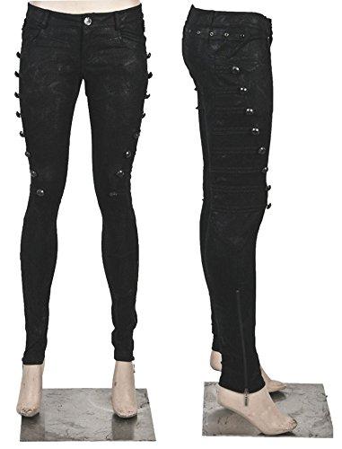Pantaloni, stile militare rock elegante, stile gotico, Punk Rave taglio da donna nero XL