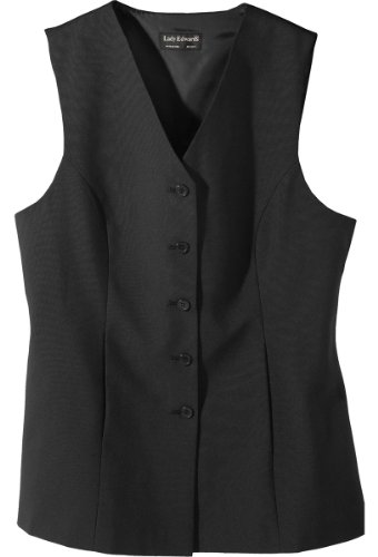 Ed Garments Women'S Sleeveless Long Length Tunic Vest, Black, X-Large