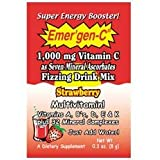 Emergen-C Multi-Vitamin Fizzy Drink Mix, 1000 mg, Strawberry, 0.3 Ounce Packets (Pack of 36) ~ Emer'gen-C