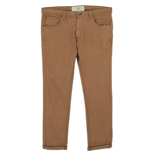 Bellfield Mens Viper Expedition Jeans Dark Camel Size 34