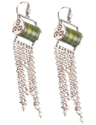 Pallavi Foley Silver Drop Earrings For Women (PAL-ER-39)