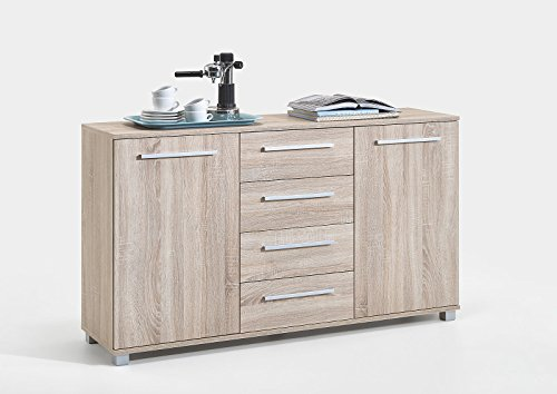 air-chest-finished-in-oak-with-4-drawers-two-cupboards-and-silver-detailing