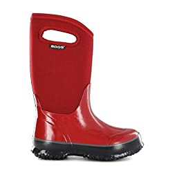 Bogs Classic Solid Waterproof Insulated Rain Boot (Toddler/Little Kid/Big Kid), Red,10 M US Toddler