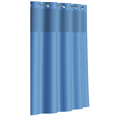 Hookless Rbh80my049 Fabric Shower Curtain With Built In Peva Liner Midnight Ebay