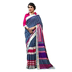 Resham Fabrics Grey Cotton Silk Saree