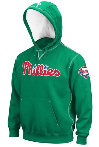 Majestic Philadelphia Phillies Kelly Green Golden Child Pullover Hoody Sweatshirt (Large) at Amazon.com