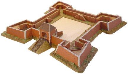 Terrain: 15mm Earthworks - Vauban Fort Kit 13pc