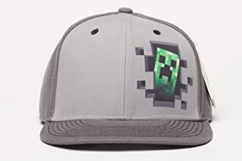 Official Licensed Minecraft Creeper Inside Snap Back Hat - One Size Fits All