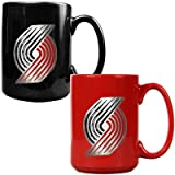 NBA Portland Trailblazers Two Piece Ceramic Mug Set - Primary Logo at Amazon.com