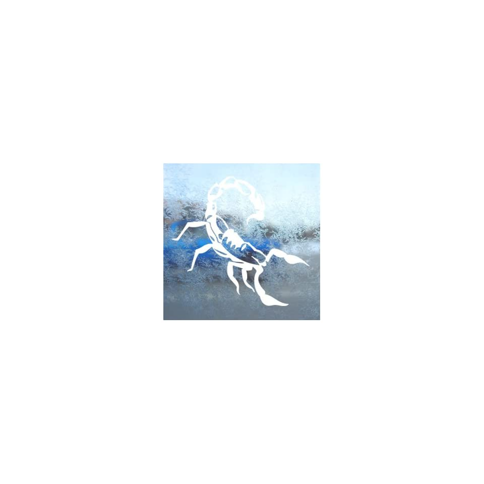 SCORPION MARINE White Decal Car Laptop Window Vinyl White