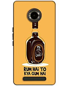 MobileGabbar Micromax Yu Yunique Back Cover Printed Designer Hard Case