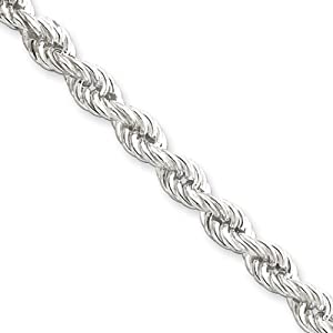 Black Bow Jewellery Company : 5.3mm, Sterling Silver, Hollow Rope Chain, 18 Inches