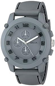 Breda Men's 8135-grey Colton Gray Bezel Black Accented Watch