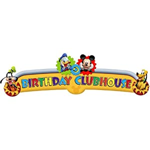 Disney Mickey Mouse Clubhouse Playtime Happy Birthday Banner from Hallmark