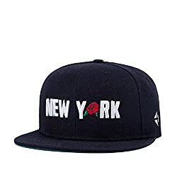 Home Prefer Premium New York Rose Embroidery Street Fashion Cap Flat bill Hip Hop Cap