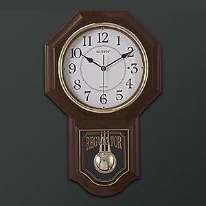 Modern style wall clock with pendulum - Contemporary pendulum wall clock ...
