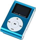 【液晶付き】 MP3プレーヤー 本体 microSDカード対応 【携帯に便利なスポーツクリップ付き】【おしゃれなメタリック調】【シンプルでコンパクトなデザイン】 | MPA-03 (スカイブルー)
