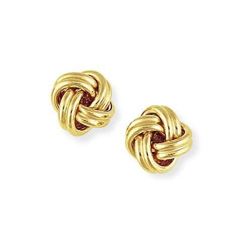 9ct Gold Knot Stud Earrings 10mm