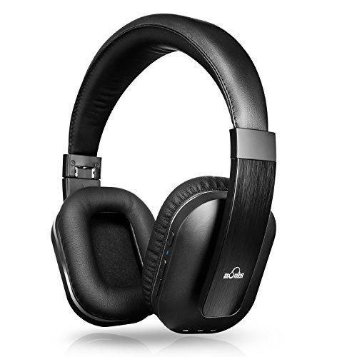 iDeaUSA Bluetoothヘッドホン ワイヤレスヘッドホン/Apt-X搭載/アジャスター/マイク/折畳み型 Black