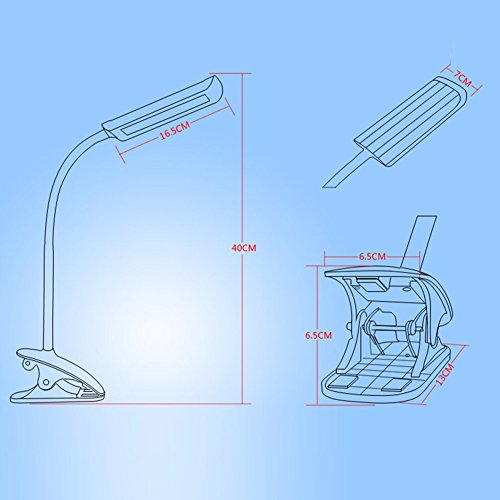 Kedsum Dimmable Eye Care Led Desk Lamp 7w Flexible